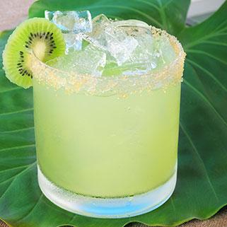 kiwi cocktail on leaf
