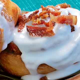 Bacon cinnamon roll