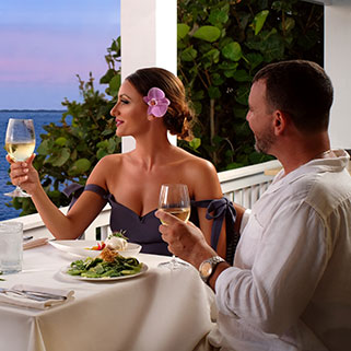 couple dining in the evening